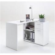 Corner Flexi Office/Study Desk in White