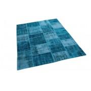 Rozenkelim Patchwork vloerkleed, blauw, 235cm x 169cm