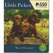 The Art of Linda Picken Box of Chocolates 550 piece Puzzle (Chocolate Labs)
