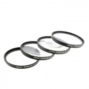 close up +1 / +2 / +4 / +10 filtros de lentes ajustados - negro (58mm / 4 PCS)
