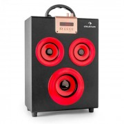 Auna Central Park 2.1 Bluetooth Speaker USB SD Mobile (CS6-Central-Park-Red)