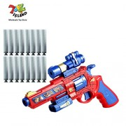 ToyzIsland Exclusive High Quality Super Hero Space NERF Style Gun with 6 Soft Dart with Music Battery OPPERATED