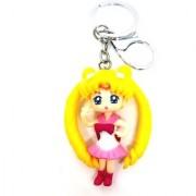 Trunkin Cute Doll Girl Long Hair Model 1 Keychain