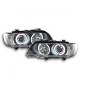 FK-Automotive faro Angel Eyes LED BMW X5 E53 anno di costr. 00-03 nero