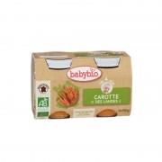 Babybio Petit pot carotte dès 4 mois - 2x130 g