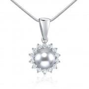 Silvego Stříbrný přívěsek s přírodní perlou v barvě stříbrné - FNJ0887PSP