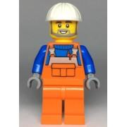 cty0971 Minifigurina LEGO City-Muncitor constructii cty0971