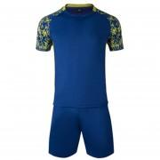 Conjunto De Fútbol Jersey Para Unisexo Permeabilidad De Color Solido - Azul Oscuro
