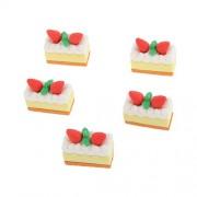 Imported 5Pcs Miniature Dollouse Fairy Garden Landscape Bonsai Decor Strawberry Cake