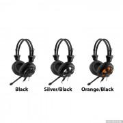 HEADPHONES, A4 HS-28-3, Microphone, Orange/Black