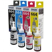 Original Epson Ink All Colors (T6641-B T6642-C T6643-M T6644-Y) 70 Ml Each For L100/L110/L200/L210/L300/L350/L355/L550