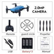 KMtar5MX LF602 2.4G Mini FPV Foldable RC Quadcopter Drone Aircraft with 720P HD WiFi Camera Gesture Selfie Altitude Hold 3 Battery