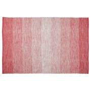 Tapis design 'WASH' 160x230 cm rouge en coton