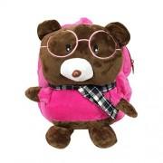 Wrapables Mochila de Peluche para niños pequeños, Rosado (Pink Bear), Oso Rosado, 3 Years and Under