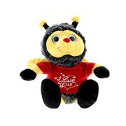 Dollibu Sitting Bumble Bee I Love You Valentines Stuffed Animal - Red Message Tshirt 7 Inch Super Soft Plush (K5017 5995)