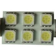Sofita rendszám világítás, 6 led, 36 mm, 120 Lumen, 5050 chip, 2W, hideg fehér