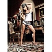 Baci Lingerie Baci: Satin Camisole Shorts, svart