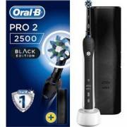 Електрическа четка за зъби Oral-B PRO 2 2500 Black Edition, 2 режима на работа, Черен