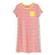 Lands' End Shirtkleid für große Mädchen - Orange - 128/134 von Lands' End