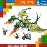 AlanWhale Medieval Lion Royal Knights Chimaera Dragon Human VS Night Elf Enlighten Building Kit 2311 (469 Piece)