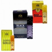 St. John Fast Furious Black Sapphire And Glamour Gold Eau de Parfum - 90 ml (For Men Women) 30 ml each