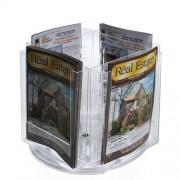 Azar Displays Azar 252321 Soporte para cartas (tamaño carta, 4 bolsillos, base giratoria)