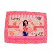 Terítő lány mintás textil 35x48cm rózsaszín