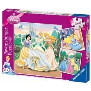 Puzzle printesele Disney, 3x49 piese Ravensburger