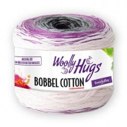 Woolly Hugs Bobbel Cotton von Woolly Hugs, Weiß/Fuchsia/Lila