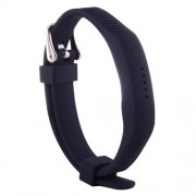 For Fitbit Flex 2 Bracelet Watch Oblique Texture Silicone Watchband Full Length: 25cm (Dark Blue)