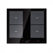 Klarstein Virtuosa Flex 60 table de cuisson à induction 4 zones 7200W vitrocéramique noire