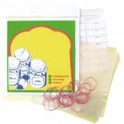 Set de folii, elastice si etichete pentru borcane