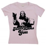 Jesus Loves You! Girly T-shirt, Girly T-shirt