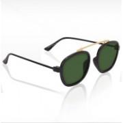 Knotyy Rectangular Sunglasses(Green)
