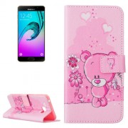 Samsung Galaxy A7 Case, (2016) / A710 Bear Pattern Horizontal Flip Leather Case with Holder & Card Slots & Wallet