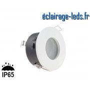 Spot LED encastrable blanc milieu humide IP65 perçage 70mm ref smh-1