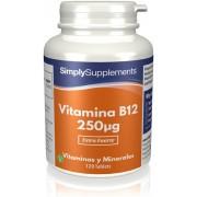 Simply Supplements Vitamina B12 250mcg - 120 Comprimidos