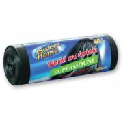 Saci menajeri LDPE 60 L, ultrarezistenti, 10 buc/rola Sweet Home