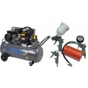 Pachet Compresor de aer Stager HM-V-0.25/100 100L 8 BAR + KIT 4 accesorii