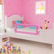 vidaXL Ограничител за бебешко легло, розов, 120x42 см, полиестер