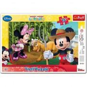 Puzzle Trefl Mickey si Minnie la tara 15 piese