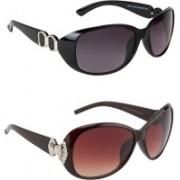 JOHAENA Butterfly Sunglasses(Black, Brown)