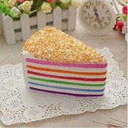 Missley Squishy Cakes Creative Cute Stress Reliever Squishy Squeeze Rainbow Cake Bread Super Slow Rising Fun Soft Toy
