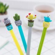 4 pcs/set Novelty Strong Cactus Plant Gel Pen Ink Marker Pen School Office Supply Escolar Papelaria black ink 0.05mm Child gift