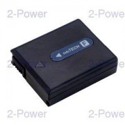 2-Power Videokamera Batteri Sony 7.2v 630mAh (NP-FF50)