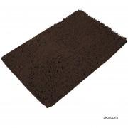 Pack x 2 Alfombra Para Baño Shaggy Lavable Pelo Largo Tacto Soft Chocolate
