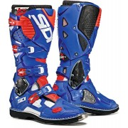 Sidi Crossfire 3 Motocross Boots White Red Blue 49