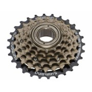 Pinion Filetat Shimano Tourney Mf-Tz500 - 6 6Vit Hg 14-28T Maro-Negru