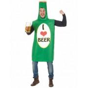 Disfraz botella de cerveza adulto Única
