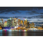 Puzzle Educa - Sydney City Twilight, 1000 piese, include lipici puzzle (17106)